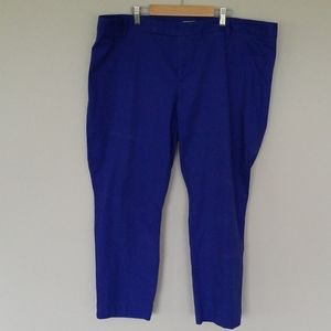 Gap slim cropped cobalt blue chinos size 20